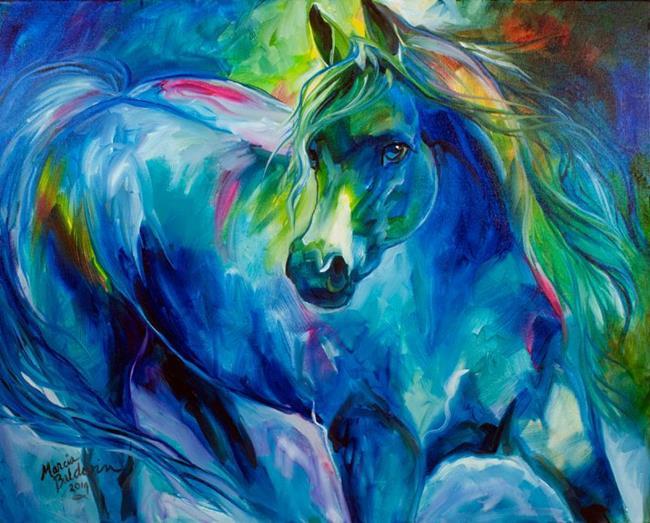 Art: ARABIAN BLUES by Artist Marcia Baldwin