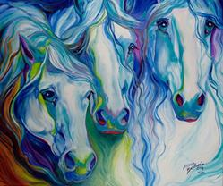 Art: THREE SPIRITS EQUINE by Artist Marcia Baldwin