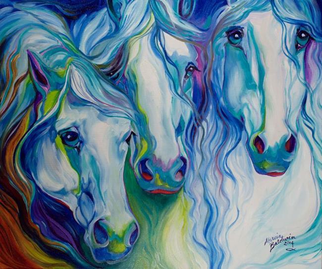 Art: THREE SPIRITS EQUINE by Artist Marcia Baldwin