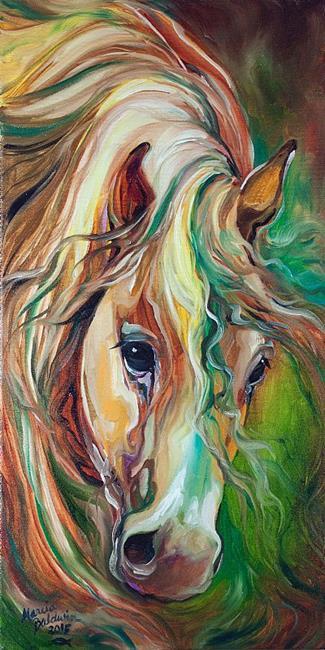 Art: WILD STORM Abstract Horse by Artist Marcia Baldwin