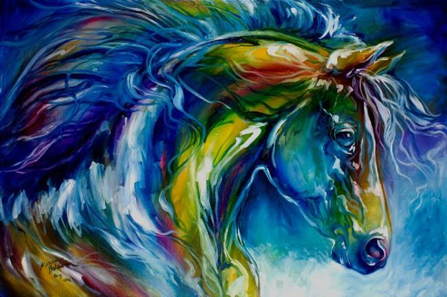 Art: MIDNIGHT RUN EQUINE by Artist Marcia Baldwin