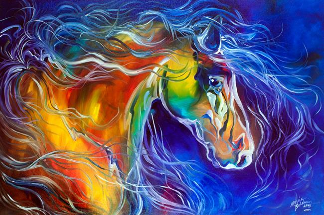 Art: COLOR MY WORLD WITH HORSES no.2 by Artist Marcia Baldwin