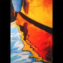 Art: ABSTRACT BOAT by Artist Marcia Baldwin