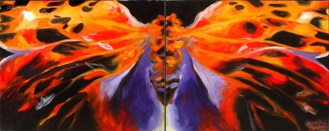 Art: Butterfly Abstract 2 by Artist Marcia Baldwin
