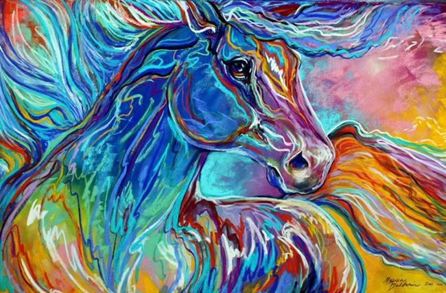 painted pony abstract in pastel by marcia baldwin from