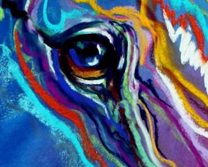 Detail Image for art PAINTED PONY ABSTRACT in PASTEL
