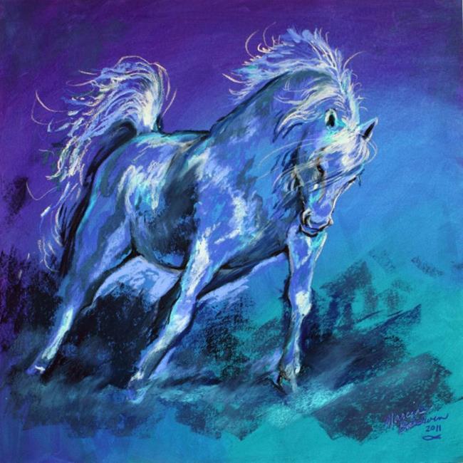 Art: CERULEAN ARABIAN by Artist Marcia Baldwin