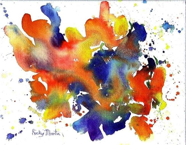 Art: Abstract ( available in  my ebay store) by Artist Ulrike 'Ricky' Martin