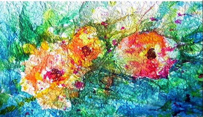 Art: Crumpled Roses by Artist Ulrike 'Ricky' Martin