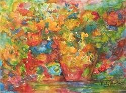 Art: Abstract Flower Bouquet by Artist Ulrike 'Ricky' Martin