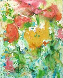 Art: Spring Flower Abstract by Artist Ulrike 'Ricky' Martin