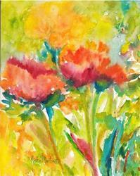 Art: Flower Abstract by Artist Ulrike 'Ricky' Martin