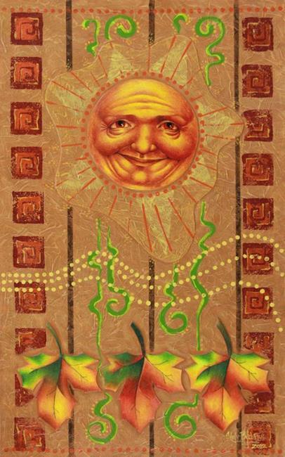 Art: Autumn Sun by Artist Shelly Bedsaul