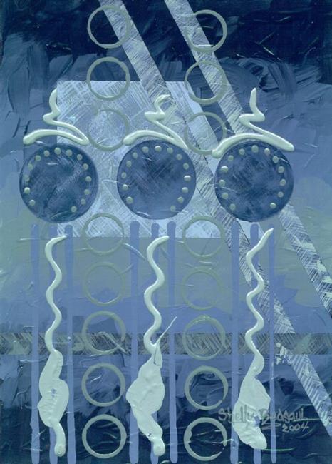 Art: Moonflower (sold) by Artist Shelly Bedsaul