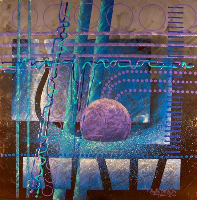 Art: Kind of Blue(sold) by Artist Shelly Bedsaul