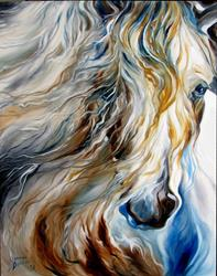 Art: MANE EVENT ~ An Equine Abstract by Artist Marcia Baldwin