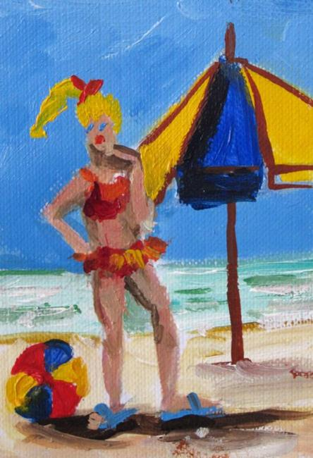 Art: Beachscape Aceo-sold by Artist Delilah Smith