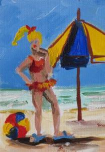 Detail Image for art Beachscape Aceo-sold
