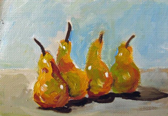 Art: Pears Aceo by Artist Delilah Smith
