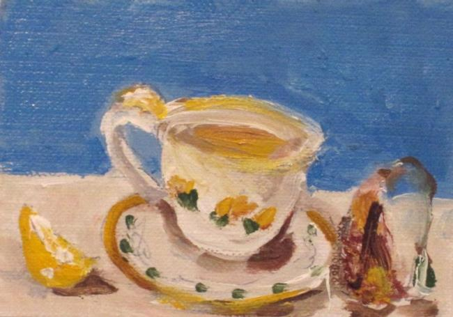 Art: Tea with Lemon Aceo by Artist Delilah Smith
