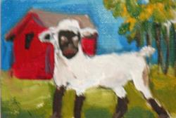 Art: Lamb Aceo by Artist Delilah Smith