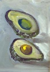 Art: Avacado Aceo by Artist Delilah Smith