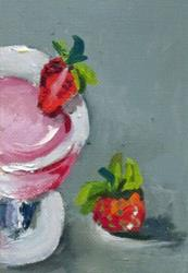 Art: Strawberry Daiquiri Aceo by Artist Delilah Smith