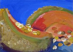 Art: Muskmelon Aceo by Artist Delilah Smith