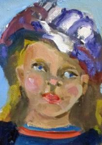 Detail Image for art Girl with the Hat Aceo