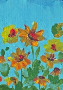Detail Image for art Summer Flowers Aceo