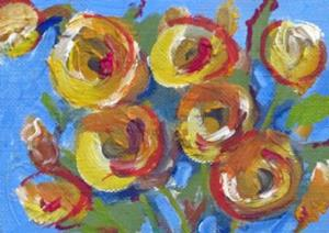 Detail Image for art Yellow Rose Aceo-sold