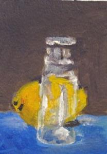 Detail Image for art Lemon and Glass Bottle Aceo