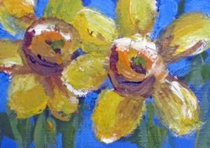 Detail Image for art Two Daffodils Aceo