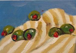 Art: Olives Aceo No.2 by Artist Delilah Smith