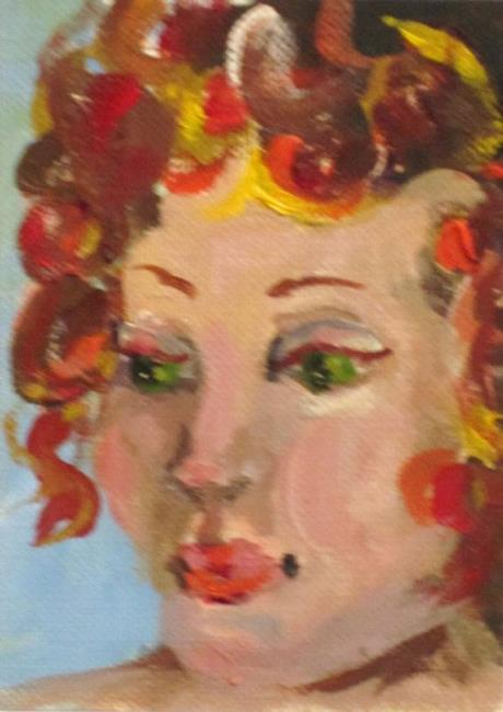 Art: Curls Aceo by Artist Delilah Smith