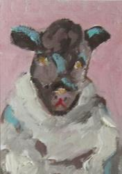 Art: Sheep No 2 Aceo by Artist Delilah Smith