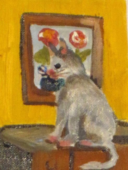 Art: The Art Critique aceo by Artist Delilah Smith