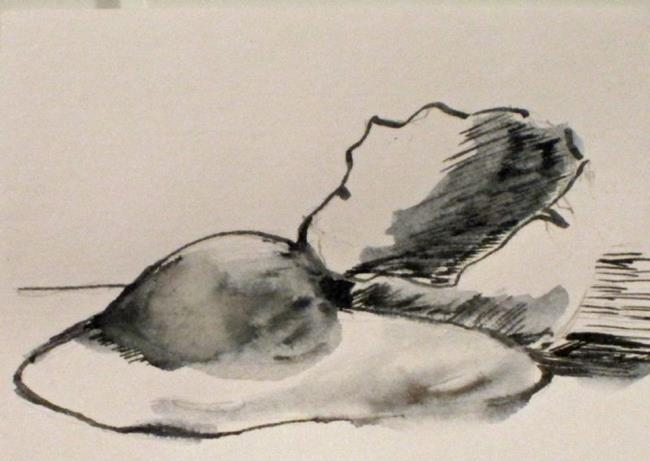 Art: Broken Egg Aceo by Artist Delilah Smith