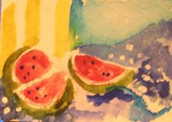 Art: Watermellon by Artist Delilah Smith
