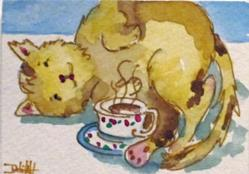 Art: Morning Coffee with Cream-Sold by Artist Delilah Smith