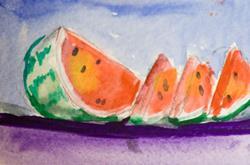 Art: Watermellon Slice by Artist Delilah Smith