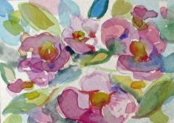 Art: Spring Flowers Aceo-sold by Artist Delilah Smith