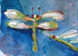 Art: Dragonfly Aceo No.2 by Artist Delilah Smith