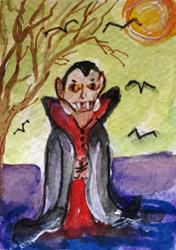 Art: Dracula Aceo by Artist Delilah Smith