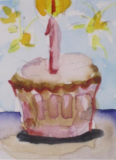 Art: Birthday Cupcake by Artist Delilah Smith