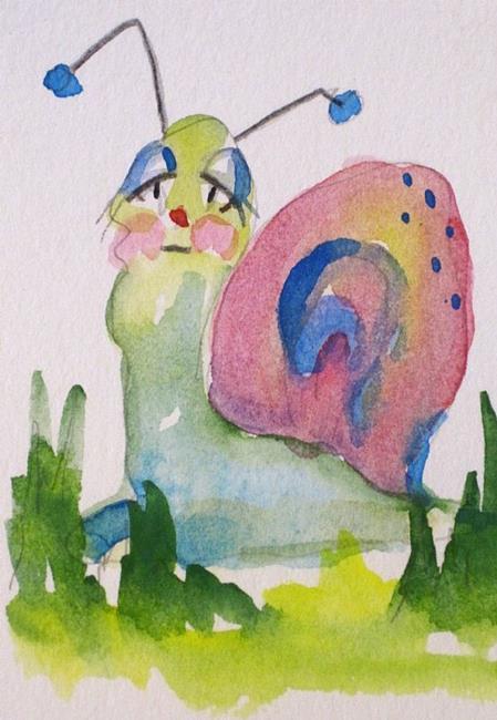 Art: Sad Snail by Artist Delilah Smith
