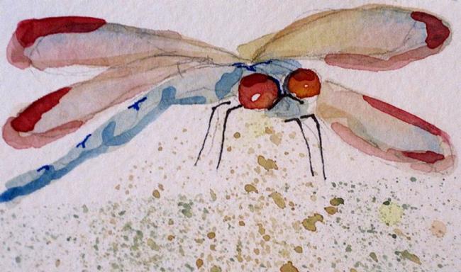 Art: Aqua Dragonfly by Artist Delilah Smith