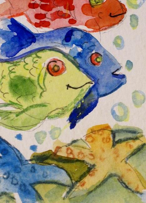 Art: Red Fish Blue Fish Green by Artist Delilah Smith