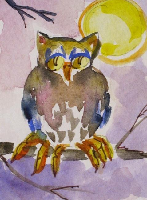 Art: Old Owl by Artist Delilah Smith