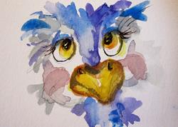 Art: Ostrich Aceo No. 2 by Artist Delilah Smith
